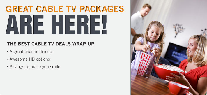 Great Cable TV Packages Are Here along with Great Deals on High-Speed Cable Internet